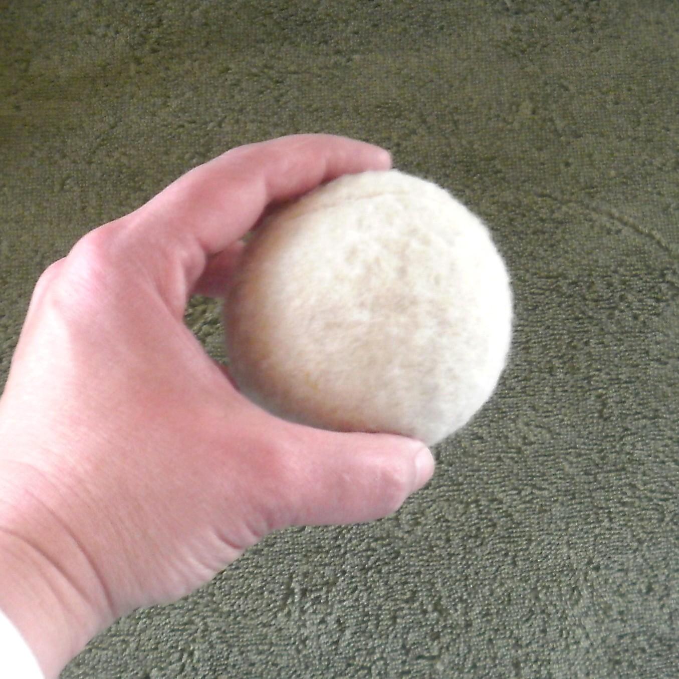 Natural Wool Dryer Balls -- Set of Seven